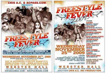 TKA, Judy Torres, Cover Girls, Sugar Hill Gang and more at Webster Hall